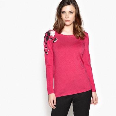 Sweter z haftem i okrągłym dekoltem ANNE WEYBURN