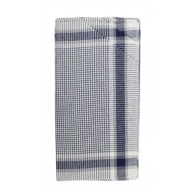 Lot de 12 mouchoirs de travail homme Vichy bleu 40x40 cm 100% coton Lot de 12 mouchoirs de travail homme Vichy bleu 40x40 cm 100% coton DECORATIE