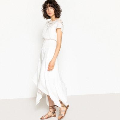 Vestido con pieza y bordado, con bajo en asimetría Vestido con pieza y bordado, con bajo en asimetría La Redoute Collections