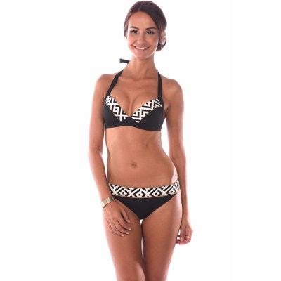 Haut de maillot de bain 2 pieces femme imprime noir et DALHIA ICONA Bonnet C Haut de maillot de bain 2 pieces femme imprime noir et DALHIA ICONA Bonnet C LIVIA