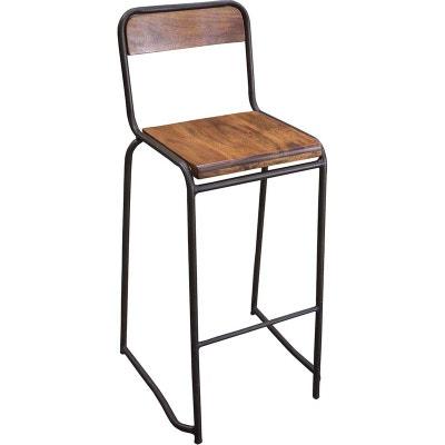 chaise de bar style industriel la redoute. Black Bedroom Furniture Sets. Home Design Ideas