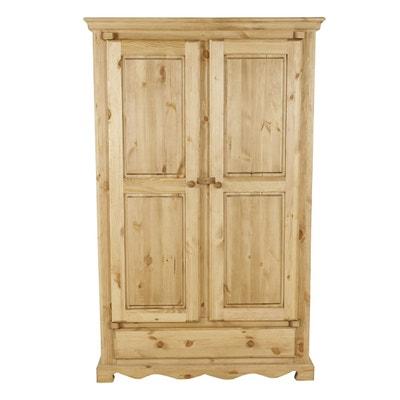 Armoire chambre bois massif en solde | La Redoute