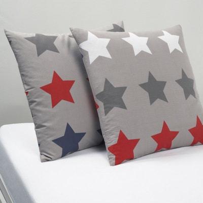 STARS Printed Cotton Pillowcase STARS Printed Cotton Pillowcase La Redoute Interieurs