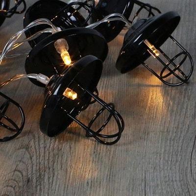 Guirlande Lumineuse Lanternes Métal Noir SKYLANTERN