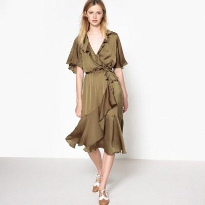 Asymmetrical Ruffled Wrap Dress Asymmetrical Ruffled Wrap Dress MADEMOISELLE R