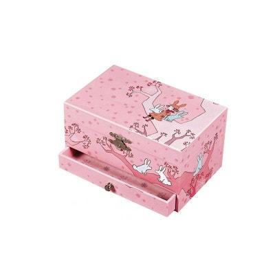 Boîte à bijoux musicale Fille sur arbre, rose Boîte à bijoux musicale Fille sur arbre, rose TROUSSELIER