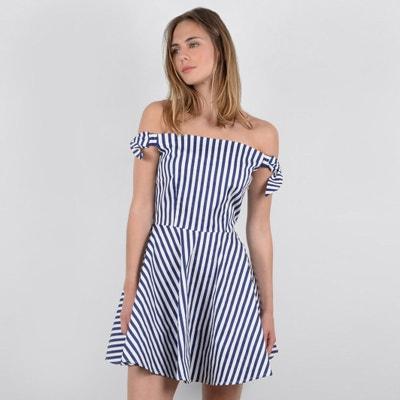 Wijd uitlopende bedrukte korte jurk Wijd uitlopende bedrukte korte jurk MOLLY BRACKEN
