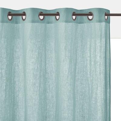rideau lin bleu en solde la redoute. Black Bedroom Furniture Sets. Home Design Ideas