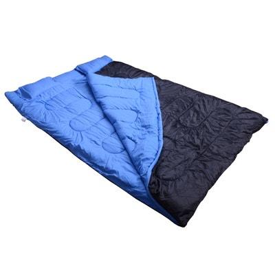 Sac de couchage double avec 2 oreillers noir HOMCOM