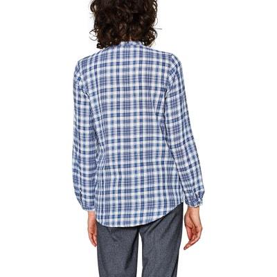 Checked Shirt with Polo Collar ESPRIT