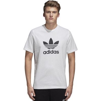 T-shirt col rond manches courtes imprimé devant T-shirt col rond manches courtes imprimé devant adidas Originals