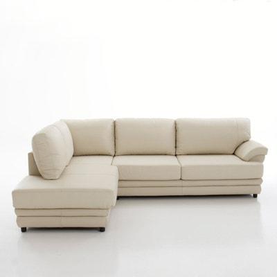 Canapé d'angle, convertible confort excellence, cuir véritable, Newcastl La Redoute Interieurs