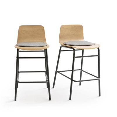 Confezione da 2 sedie da bar media-altezza, BLUTANTE Confezione da 2 sedie da bar media-altezza, BLUTANTE La Redoute Interieurs