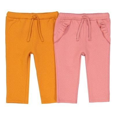 bd546c9b83613 Lot de 2 pantalons en molleton uni 1 mois - 3 ans Lot de 2 pantalons. Soldes.  LA REDOUTE COLLECTIONS