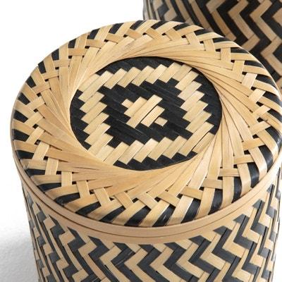 Cajas e bambú trenzado (lote de 2) BACHA Cajas e bambú trenzado (lote de 2) BACHA La Redoute Interieurs