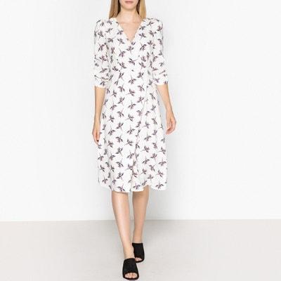 Wijd uitlopende jurk met bloemenprint FANNY Wijd uitlopende jurk met bloemenprint FANNY BA&SH