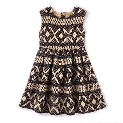 Vestido evasé con motivos brillantes 3-12 años Vestido evasé con motivos brillantes 3-12 años La Redoute Collections