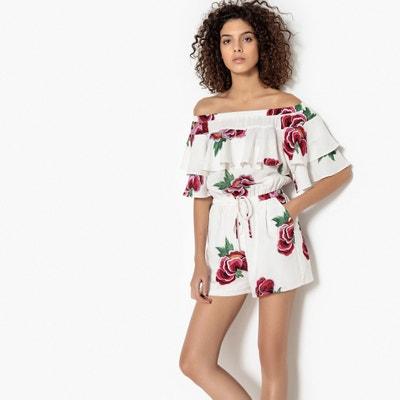 Bardot Frill Floral Print Playsuit SEE U SOON