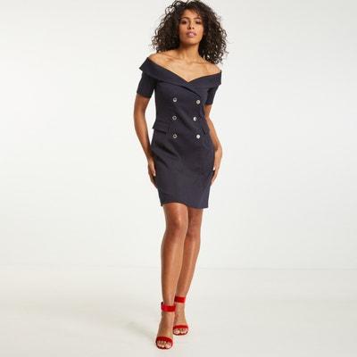 Kleid mit gerader Schnittform und kurzen Ärmeln, Unifarben MORGAN