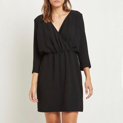 Robe noire trapèze manche longue en solde   La Redoute 9930bf3e6a28