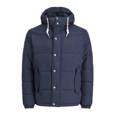 Krótka kurtka puchowa z kapturem, zimowa Krótka kurtka puchowa z kapturem, zimowa JACK & JONES