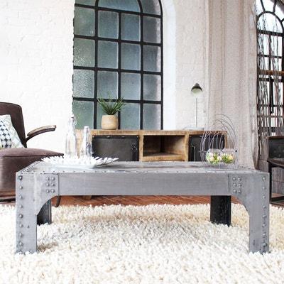Table basse industrielle en métal gris  |  IF127 MADE IN MEUBLES