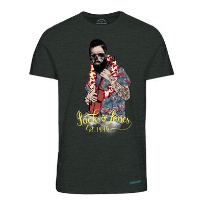 Camiseta con cuello redondo y estampado delante, de manga corta Camiseta con cuello redondo y estampado delante, de manga corta JACK & JONES