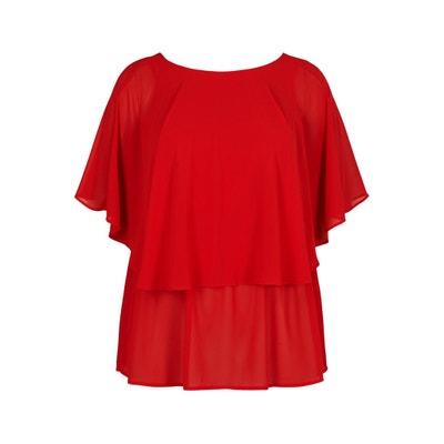 Bluse mit rundem Ausschnitt und Schmetterlingsärmeln, uni Bluse mit rundem Ausschnitt und Schmetterlingsärmeln, uni ZIZZI