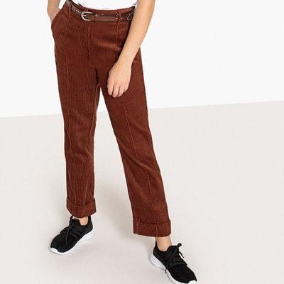 Pantalon droit, en velours La Redoute Collections