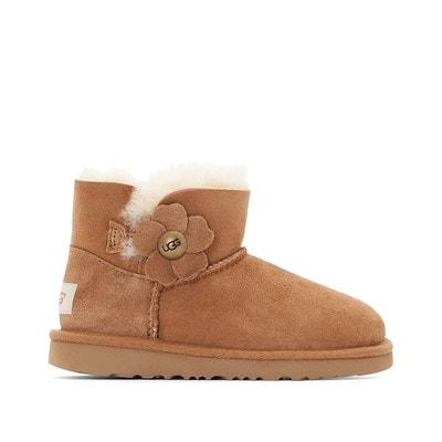 Boots cuir fourrées, Mini Bailey Button Poppy UGG