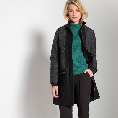 Cappotto due tessuti mezza lunghezza chiusura con cerniera Cappotto due tessuti mezza lunghezza chiusura con cerniera ANNE WEYBURN