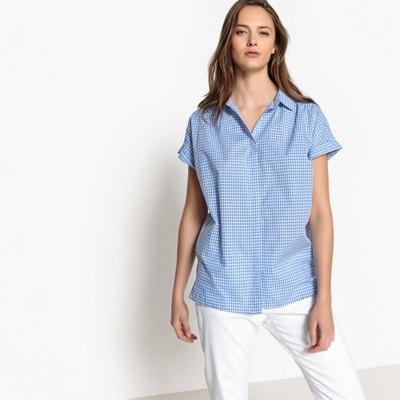 Koszula w kratkę, krótki rękaw, czysta bawełna La Redoute Collections