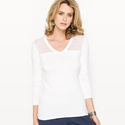 Camiseta de punto ligero con rejilla ANNE WEYBURN