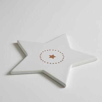 Sottopiatto a forma di stella, porcellana, Kubler Sottopiatto a forma di stella, porcellana, Kubler La Redoute Interieurs