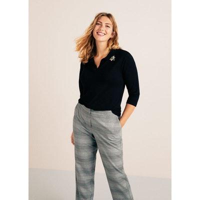Pantalon droit femme grande taille - Castaluna Violeta by mango en ... 3232c8181b83