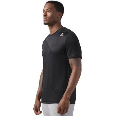 T-shirt scollo rotondo maniche corte fantasia davanti REEBOK