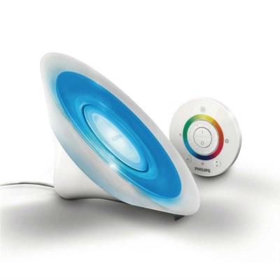 LIVING COLORS AURA - Lampe d'ambiance LED couleurs changeantes télécommandée Transparent H15cm PHILIPS