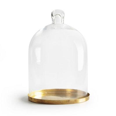 Cloche verre et laiton H30 cm sur socle TANEMIRTE Cloche verre et laiton H30 cm sur socle TANEMIRTE LA REDOUTE INTERIEURS