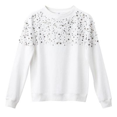 Sweatshirt mit Schmuckelementen Sweatshirt mit Schmuckelementen La Redoute Collections
