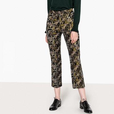 Pantalon bootcut 7/8 en jacquard Pantalon bootcut 7/8 en jacquard La Redoute Collections