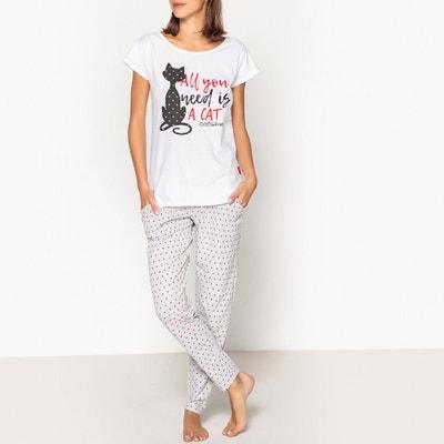 Pyjama met print en korte mouwen  Catsline Pyjama met print en korte mouwen  Catsline CATSLINE