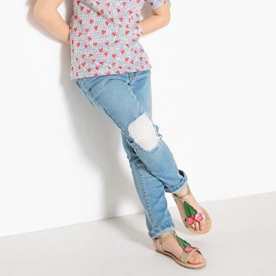 Slim jeans met gehaakt inzetstuk 3-12 jr Slim jeans met gehaakt inzetstuk 3-12 jr La Redoute Collections