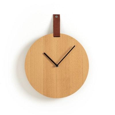 Horloge, bois et cuir, TAMURT La Redoute Interieurs