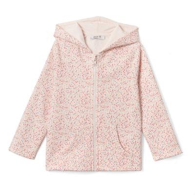 Bedrukte sweater met kap 3-12 jr La Redoute Collections