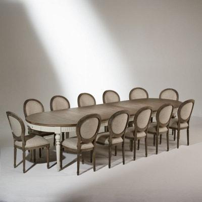 Table de salle à manger AUDE, extensible, 6 à 16 couverts grise ROBIN DES BOIS