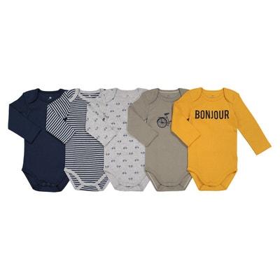 Lot de 5 bodies en coton 0 mois - 3 ans La Redoute Collections