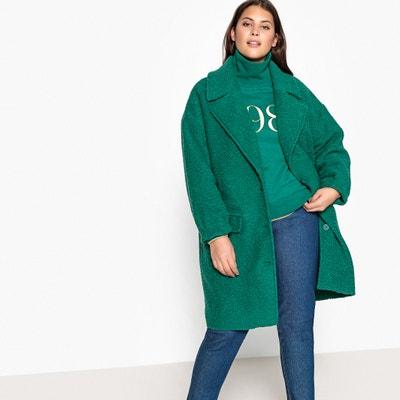 Halblanger Mantel, 44% Wolle, Knopfverschluss Halblanger Mantel, 44% Wolle, Knopfverschluss CASTALUNA