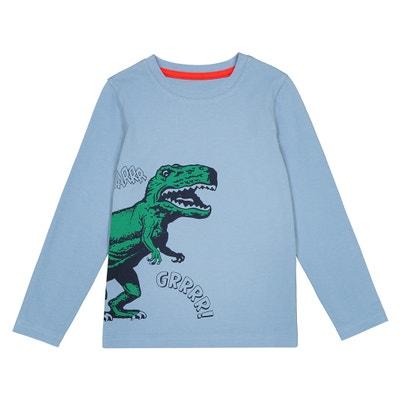 "T-shirt motivo ""dinosauro"" 3 - 12 anni T-shirt motivo ""dinosauro"" 3 - 12 anni La Redoute Collections"