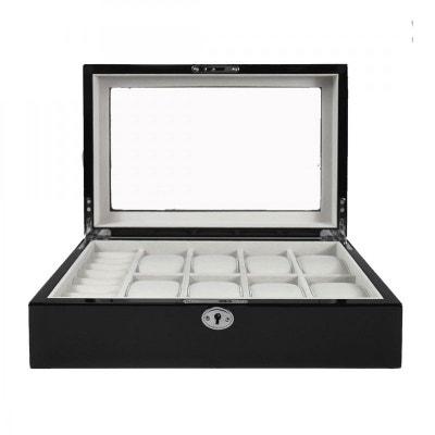 Ecrin Luxe bois 8 montres, Kennett, couleur noir laqué Ecrin Luxe bois 8 montres, Kennett, couleur noir laqué KENNETT