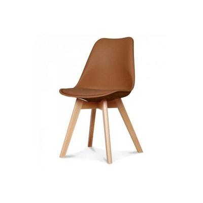 chaise scandinave caramel esben declikdeco - Chaise Scandinave Beige